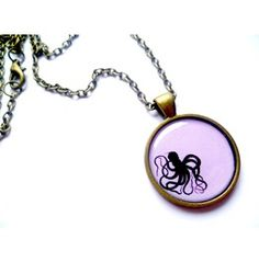 PENDANT Octopus Silhouette BABY PINK