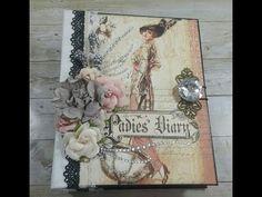 MINI ALBUM TUTORIAL PART 1 GRAPHIC 45 PORTRAIT OF A LADY SHELLIE GEIGLE JS HOBBIES AND CRAFTS - YouTube