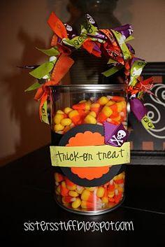 Cute gift idea for teacher on Halloween