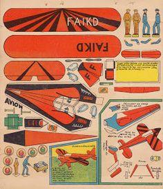 Vintage paper plane