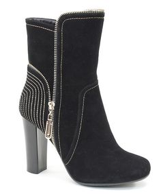 Love this Black Contrast Bootie on #zulily! #zulilyfinds