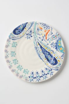 Swirled Symmetry Dinner Plate - Anthropologie.com  This set is so pretty I'd even want the mugs!