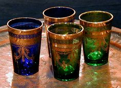 morrocan tea glasses