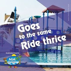 Tried, tested and tried again! #TagAFriend who reminds you of this! #MMFunCity #CrazyFriends #WaterRides #Slides