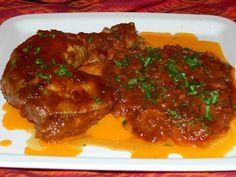 Pulpe de pui cu sos de ceapa
