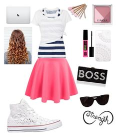 """""""girly girl"""" by knipphannah on Polyvore featuring White Label, Monika Strigel, Tattify, Milly, Clinique, Maybelline, Tiffany & Co. and Converse"""