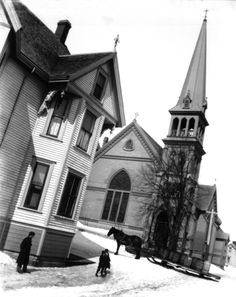 As requested. this is the oldest worshiping Lutheran congregation in Canada, Lunenburg's Zion Evangelical Lutheran Church. The bell has an interesting history. Worship The Lord, Place Of Worship, All Over The World, Around The Worlds, Lutheran, Interesting History, Cathedrals, Nova Scotia, Victorian Homes