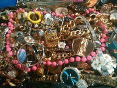 Jewelry - 30-40lbs or more of junk/good jewelry bundle lot