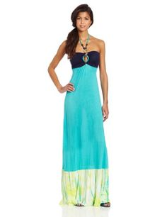 Southpole Juniors Long Dress with Str...