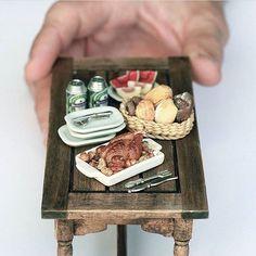 Miniature dinner table