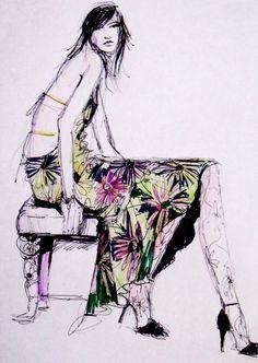 fashion illustration. from etsy