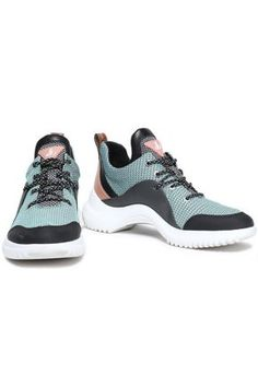 Sam Edelman Paneled Printed Mesh And Rubber Sneakers In Multi Nike Free, Color Blocking, Mesh, Lace Up, Sneakers Nike, Turquoise, Flats, Woman, Printed