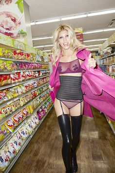 Sleep Tight Garter Bandage Skirt & Gianni Versace Pink It Through Vintage Leather Trench Coat & Clo Intimo Mallla Shelf Mesh Bra #ValentinesDay #NastyGal