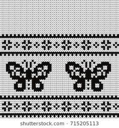 Hand Embroidery Patterns, Cross Stitch Embroidery, Knitting Patterns, Crochet Patterns, Punto Fair Isle, Knitting Charts, Stock Foto, Baby Sweaters, Lana