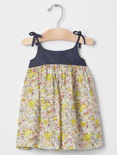 Floral lemon bow dress