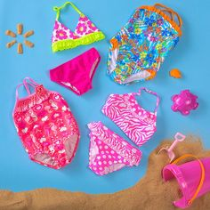 OP swimsuits for Infant/Toddler Girls (sizes 6M – 5T)