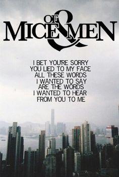 Repeating Apologies - Of Mice & Men
