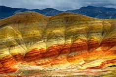 Painted Hills Oregon Camping | Painted Hills -- where the Earth stores its palette; John Day Fossil ...