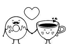 Dibujos fáciles de amor, a lápiz, kawaii para dibujar, imprimir, colorear Tumblr Tattoo, Sketch Style, Inspiration Drawing, Videos Kawaii, Arte Horror, Flirting Quotes, Stencil, Doodles, Snoopy