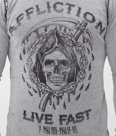 Affliction Encounter Reversible Thermal Shirt - Men's T-Shirts | Buckle