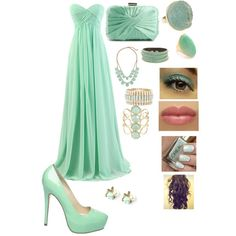 Moss teal prom outfit for Ifsah