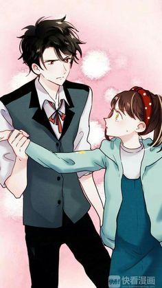 Chasing the Sun Manga Couple, Anime Couples Manga, Cute Anime Couples, Manga Love, I Love Anime, Pretty Art, Cute Art, Miyazono Kaori, Namaikizakari