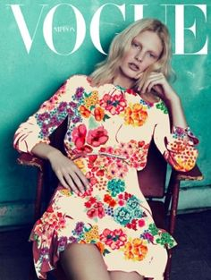 floral... on the cover of a magazine...