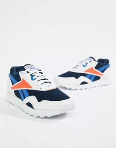 a7ec0224e72 Reebok Navy And Orange Rapide MU Sneakers Reebok