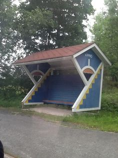 A busstop in western finland
