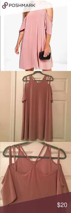 Boohoo dress Bought from a fellow posher. Sadly too big for me. Sad it didn't work out!!!! Boohoo Dresses