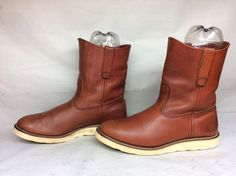 70ff987f3fd  12 VTG MENS IRISH SETTER BY RED WING WORK LEATHER BRICK RED BOOTS SIZE 11
