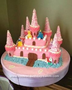 Homemade Princess Castle 3rd Birthday Cake... This website is the Pinterest of princess cake ideas