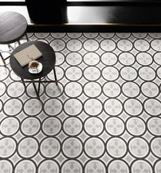 Ceramica SantAgostino Patchwork BlackWhite Sant Agostino Blackwhite 6 Kitchen Living Room Bathroom Public Spaces Faux Encaustic Tile