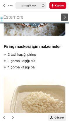 Pirinç maskesi Food, Eten, Meals, Diet