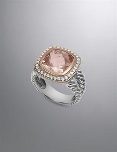 David Yuman Morganite Albion Ring.