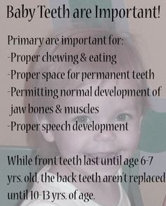 Baby Teeth are Important!  Dr. Marc E. Goldenberg, Dr. Kate M. Pierce and Dr. Matthew S. Applebaum  Pediatric Dental Office Greensboro, NC