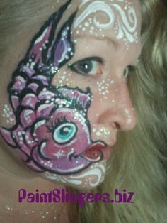 Kissing fish face painting