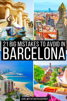 An Expert's Guide to 21 of the Biggest Mistakes that most make when they do a bit of Barcelona travel. Read this post right now so you can plan the Barcelona itinerary of your dreams! Barcelona Travel | Spain Travel | Barcelona Travel Tips | Barcelona Itinerary | Barcelona Things to do | Barcelona Travel Guide | Things to do in Barcelona | Barcelona Spain Travel Tips | Barcelona Spain Travel Guide | Barcelona Spain Things to do | Barcelona Spain Photography | #BarcelonaTravel #BarcelonaGuide Barcelona Guide, Barcelona Travel, Road Trip Europe, Europe Travel Guide, Portugal Travel, Spain Travel, Beautiful Places To Visit, Culture Travel, European Travel