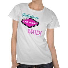 SOLD to the UK...Fabulous Las #Vegas #Bride, Got Lucky Tshort #bridal fun fashion