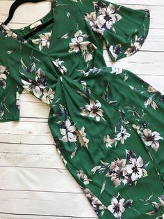 Green Floral Maxi Dr
