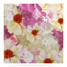 """East Urban Home 'SWEET FLORIST' Painting Print on Metal Size: 10"""" H x 10"""" W x 1"""" D"""