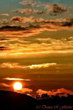 WVa Sunrise over the mountains. Almost Heaven