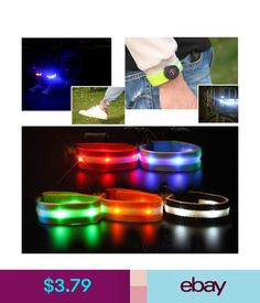 Men's Accessories Creative Arm Glow Party Supplies Glow Bangle Reflective Led Light Arm Armband Strap Safety Belt For Night Running Cycling Men's Arm Warmers