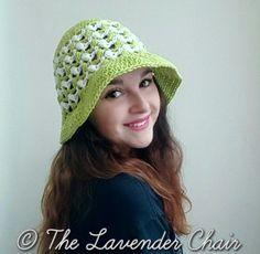 Ziggle Puff Summer Sun Hat - Free Crochet Pattern - The Lavender Chair