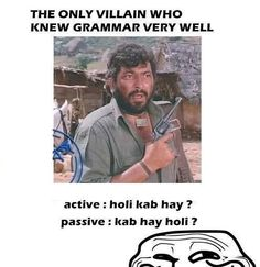 """Sholay translation """"when is holi"""" and """"holi is when"""" only Bollywood fans will know"""