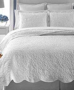 5891e6c62 Martha Stewart Collection Whisper Leaves White Quilts (Created for Macy s)    Reviews - Quilts   Bedspreads - Bed   Bath - Macy s