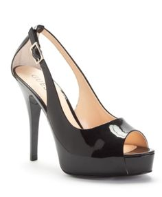 GUESS Women's Shoes, Hondo Peep-Toe Pumps Women's Shoes