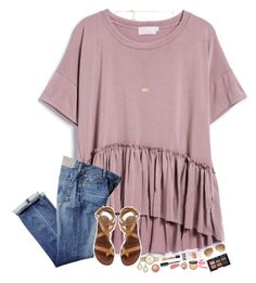 A fashion look from July 2016 featuring Tory Burch sandals, Kate Spade watches and Kendra Scott necklaces. Browse and shop related looks. Outfits For Teens, Casual Outfits, Cute Outfits, Fashion Outfits, School Outfits, Mein Style, Style Casual, Dress To Impress, Spring Outfits