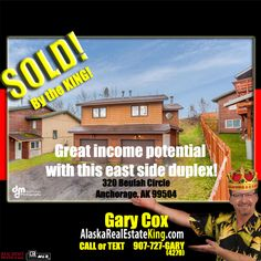 Sold at $315,000. For more Properties FOR SALE by the KING, visit http://alaskarealestateking.com/  Check out the King's reviews from happy clients http://www.zillow.com/profile/Gary-Cox-Realtor/Reviews/