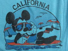 60's MICKEY MOUSE CALIFORNIA T shirt beach aviators by 80sman, $200.00